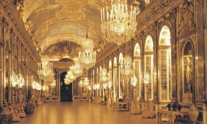 Versailles' hall of mirrors.